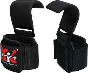 2Fit Weight Lifting Hooks Straps Gym Training Wrist Gripper Bar Support Gloves