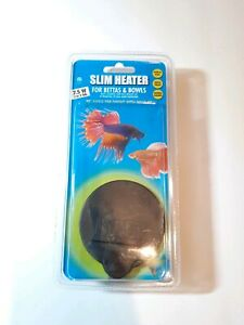 Hydor 7.5w Slim Submersible Aquarium heater for Bettas & Fish Bowls up to 5 gal