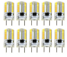 10pcs G8 G8.5 Bi-Pin Led Light bulb 64-3014 Smd Silicone Lamp 110V Warm White H