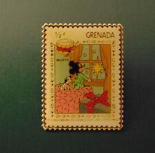Disney Grenada MORTY MOUSE & 101 DALMATIANS Postal Stamp PIN 1/2¢ Christmas '83