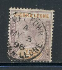 SIERRA LEONE 37 SG44 Used 1896-97 2p lilac & org QVIC Defin Cat$6