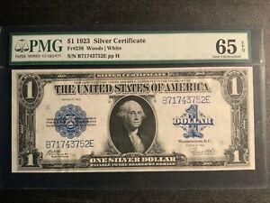 1923 $1 SILVER CERTIFICATE PMG 65 EPQ FR-238 EPQ GEM UNCIRCULATED