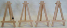 "Set of 4 WOOD EASELS 5"" x 2.75"" x 3"" When Open"