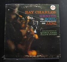 Ray Charles - Genius + Soul = Jazz LP VG+ A-2 Mono Impulse! 1961 Vinyl Record
