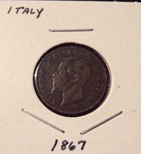 1867-M Italy 2 Centesimi Italian Coin