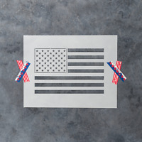 American Flag Stencil - Reusable Stencil American US Flag in Small & Large Sizes