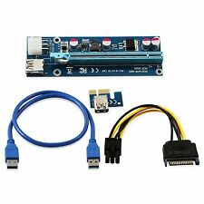6-Pin Powered PCI-E PCI Express Riser Card 006C - 1X to 16X PCIE USB 3.0  mining