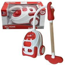 Kids Role Play Vacuum Cleaner Hoover Realistic Toy Red with Lights & Sounds 1182