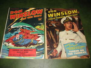 Don Winslow of the Navy #61 & #67 1948-51 Dell Golden Age Comic Books Lot of 2