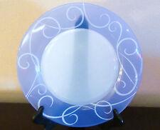 "ARC Arcopal France Blue Swirl Dinner Plates/Chop Platters 12 1/8"" Multiples"