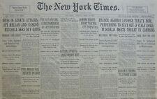 GANDHI AIDES 2 YEARS IN PRISON - PROHIBITION DRYS SENATE ATTACKS 4-1930 April 8