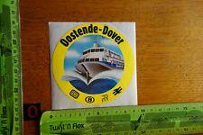 Alter Aufkleber Schiff Fähre Boot Sealink Bahn OOSTENDE-DOVER (gelb)