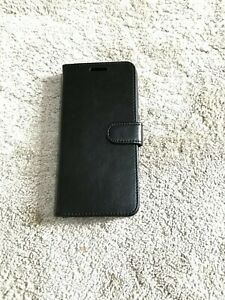 BLACK Magnetic Book Flip Plain Wallet Case Cover For Huawei all Models !!! UK