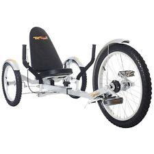 "New TriTon 20"" 3 WHEEL Tricycle RECUMBENT Trike Bike Silver"