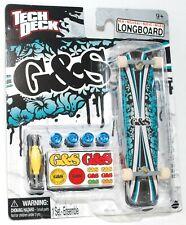 TECH DECK LONGBOARD Fingerboard SKATEBOARD G&S GORDON & SMITH w STICKERS B NEW