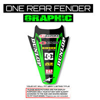 2016 2017 2018 KXF 450 REAR FENDER GRAPHICS KAWASAKI KX450F MOTOCROSS DECAL