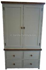 Bespoke Painted Solid Wood Housekeeping Cupboard Handmade Shabby Chic
