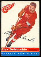 1954-55 TOPPS HOCKEY #39 ALEX DELVECCHIO EX-NM DETROIT RED WINGS  CARD