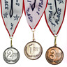 1st 2nd 3rd Place High Relief Award Medals - 3 Piece Set Gold, Silver, Bronze