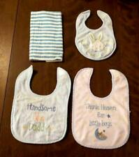 Nursery Rhyme & Baby Rageous Baby Bibs Burp Cloth for Boys Blue