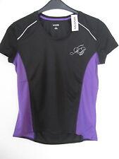 Damen Funktionsshirt  Laufshirt 100% Polyester Gr. M - schwarz / lila