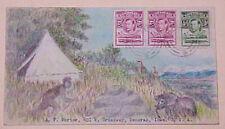 BASUTOLAND HAND PAINTED ELEPHANT HUNTER PHAYONG SEPT 1940
