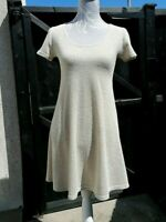 Miss Selfridge Women's Short Sleeve Oatmeal Acrylic Towelling Dress ~ Petite 12