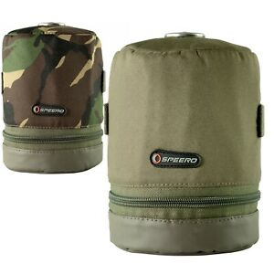 Speero Gas Canister Cover Zipped Pouch in DPM or Green Carp Fishing Tackle Kit