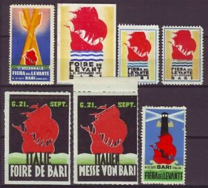 s5454/ Italy Poster Stamp Label Collection # Bari Messe w/Ship