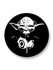 "Pin Button Badge Ø25mm 1"" Yoda DJ Master Banksy Street Art"