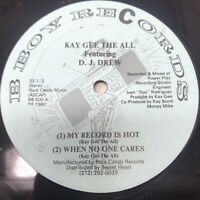 """Kay Gee The All - My Record Is Hot Vinyl Record 1987 First Pressing Hip Hop 12"""""""