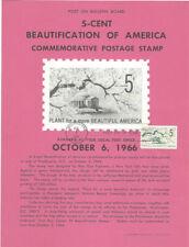 #1318 5c Beautification Stamp Poster- Unofficial Souvenir Page Flat HC