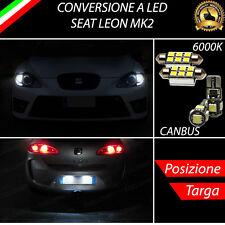 LUCI POSIZIONE A LED + LUCI TARGA A LED CANBUS SEAT LEON MK2 NO ERROR