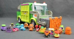 The Grossery Gang Muck Chuck Garbage Trash Truck Vehicle Battle Mode w/ 16 FIGS