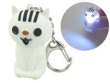 Cat Keychain with LED Light and Sound