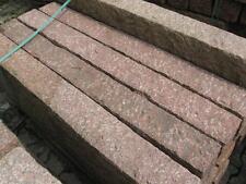 Palisaden   100x12x12cm Granit rot grob geschlagen