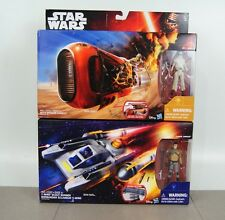 Star Wars Rey's Speeder & Rey (Jakku) & Y- Wing Scout Bomber & Kanan Jarrus