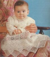 Crochet Pattern Copy ~ Baby Heirloom Open Crescent Newborn Christening Set