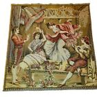 Antique tapestry wall hanging  Italian celebrating dancing Ladies Music Party