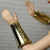 JEWELRY ~ BARBIE DOLL STAR WARS C3PO GOLD LABEL MODEL MUSE BRACELETS ACCESSORY