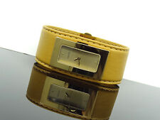 GUCCI 7800 S Small Beige Leather Band Gold Tone PETITE Women's Watch