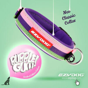 Ezydog Neo Classic Dog Collar Bubblegum