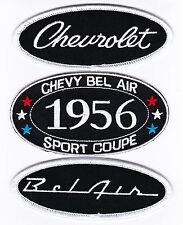 1956 CHEVY BEL AIR SEW/IRON ON PATCH BADGE EMBLEM EMBROIDERED SPORT COUPE CAR