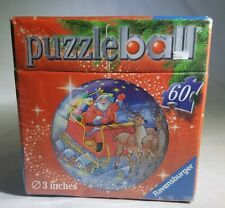 Ravensburger Christmas PuzzleBall - 60 pieces, 3 inches - Santa Reindeer Sleigh