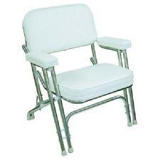 2 WISE Mariner marine Folding Deck dock fishing boat chair Chairs (pair) White