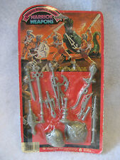 MOC vintage Imperial DRAGONS KNIGHTS & DAGGERS Warrior Weapons set RARE motu etc