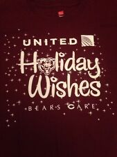 """CHICAGO BEARS long sleeve Shirt XL """"United"""" """"Bears Care Holiday Wishes"""" Volunter"""