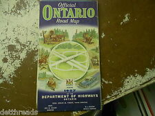 VINTAGE MAP - 1957 - Official Ontario Road Map - CANADA