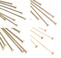 "20pcs 20 gauge 14K Gold Filled Flat cupped head pin Headpin 2/""  made USA GF40"