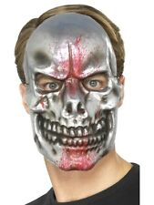 Blood Splatter Skull Mask Stained Scary Horror Hallowen Costume Accessory